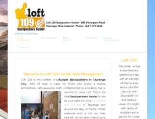 loft109.co.nz screenshot