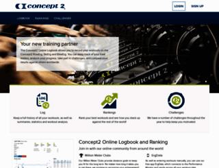 log.concept2.com screenshot