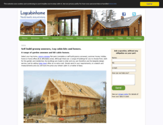 logcabinhome.co.uk screenshot