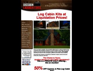 logcabinliquidators.com screenshot