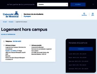 logement.umontreal.ca screenshot