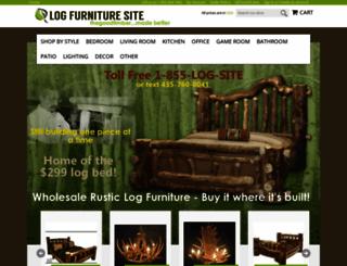 logfurnituresite.com screenshot