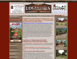 loghomes.com screenshot