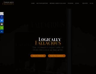 logicallyfallacious.com screenshot