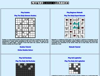 logicgamesonline.com screenshot