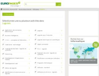 logiciels.europages.fr screenshot