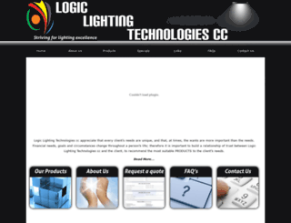 logiclighting.co.za screenshot