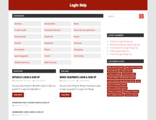 login-help.com screenshot