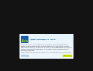 login.1blu.de screenshot