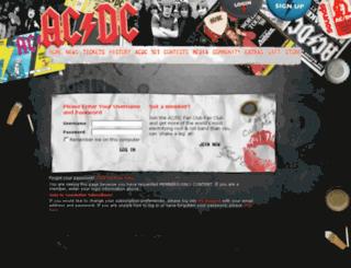 login.acdc.com screenshot
