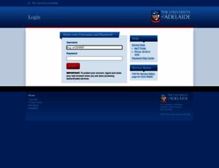 login.adelaide.edu.au screenshot