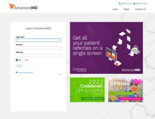 login.advancedmd.com screenshot