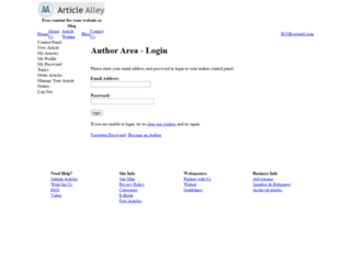 login.articlealley.com screenshot