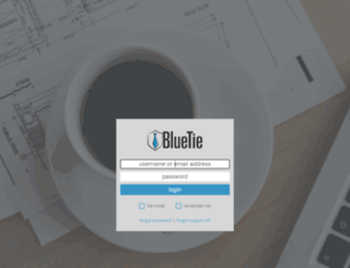login.bluetie.com screenshot