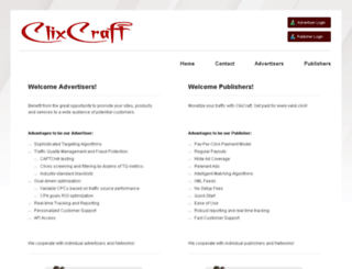 login.clixcraft.com screenshot
