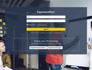 login.experiencepoint.com screenshot