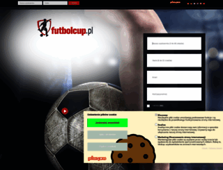 login.futbolcup.pl screenshot