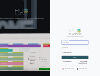 login.hubplanner.com screenshot