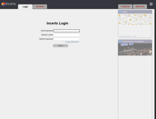 login.incerts.org screenshot
