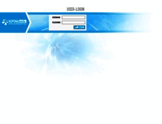 login.kupona.de screenshot