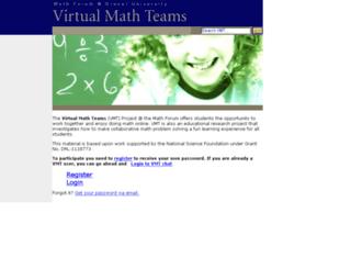 login.mathforum.org screenshot