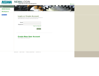 login.nema.org screenshot