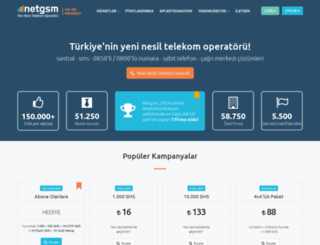 login.netgsm.com.tr screenshot