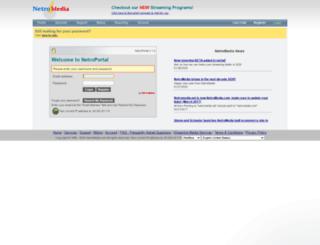 login.netromedia.com screenshot