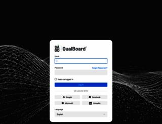 login.qualboard.com screenshot
