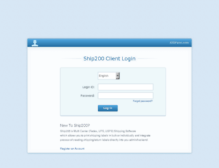 login.ship200.com screenshot