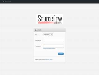 login.sourceflowmedia.com screenshot