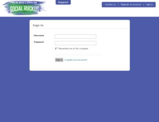 login.thesocialruckus.com screenshot