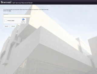 login.unibocconi.it screenshot