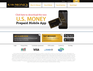 login.usmoneycard.com screenshot
