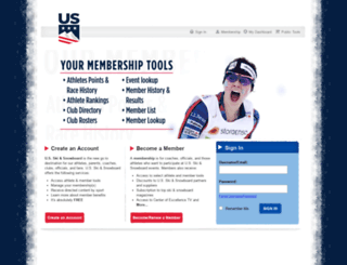 login.ussa.org screenshot