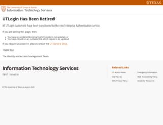 login.utexas.edu screenshot