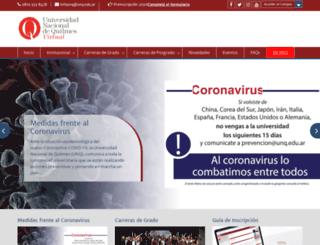 login.uvq.edu.ar screenshot
