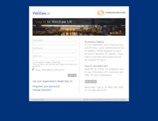 login.westlaw.co.uk screenshot