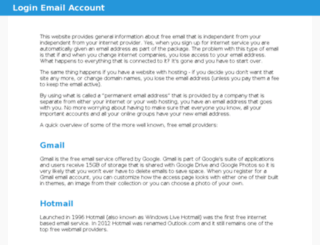 loginemailaccount.com screenshot