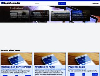 loginreminder.org screenshot
