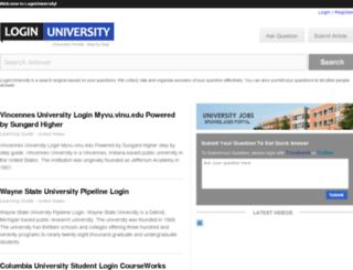 loginuniversity.com screenshot
