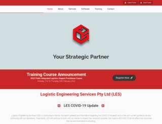 logisticengineeringservices.com.au screenshot