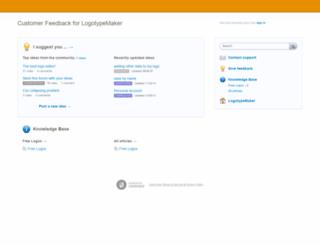 logotypemaker.uservoice.com screenshot