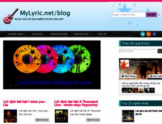 loidichnhac.blogspot.com screenshot