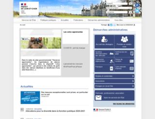 loir-et-cher.pref.gouv.fr screenshot