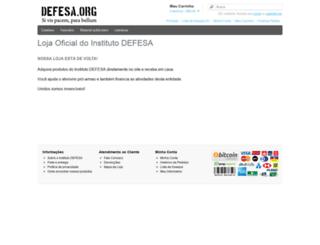 loja.defesa.org screenshot