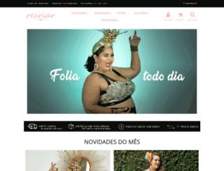 loja.recriarlingerie.com.br screenshot