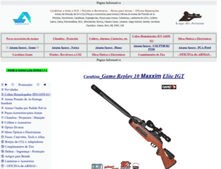 lojadasarmas.com screenshot