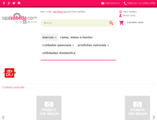 lojaizabelle.com screenshot