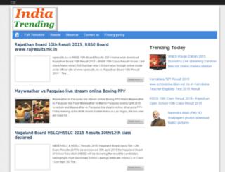 loksabhaelections2014results.in screenshot
